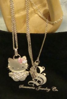 Kimora Lee Simmons Hello Kitty Necklace Sterling Silver Sapphire