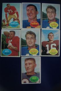 Football 7 Card Lot Very Good Excellent Leo Nomellini King Hill