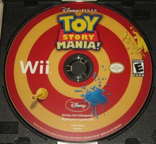 Toy Story Mania Wii Video Game Disney Pixar MINT CONDITION Comes in