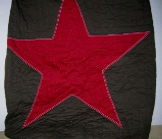 Pottery Barn Kids Brown Super Red Star Full Queen Quilt New