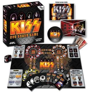 Kiss DVD Board Game Gene Simmons NR Rock Music Ace Paul Kiss Army