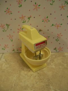 Wind Up Hand Mixer w Stand Bowl Kitchen House Appliance Lovely