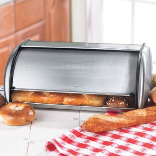 New Stainless Steel Bread Box Modern Contemporary Kitchen Decor