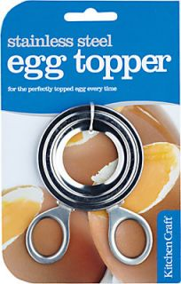 Kitchen Craft Stainless Steel Boiled Egg Topper Cutter