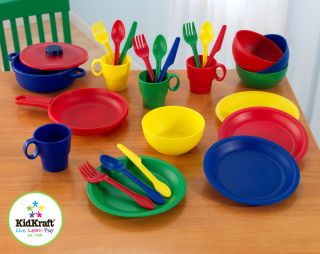 NEW KidKraft Primary Colors 27 pc Kitchen Cookware Set Childrens 63127
