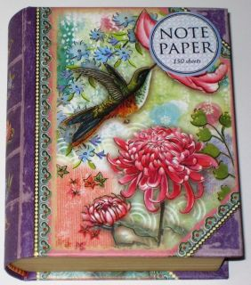 Punch Studio Paradise Birds Mini Box 150 Notes Gold Foil Arts Set Free