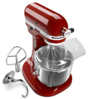 New KitchenAid Pro 500 Stand Mixer 5 Quart Lift Metal Red Black White