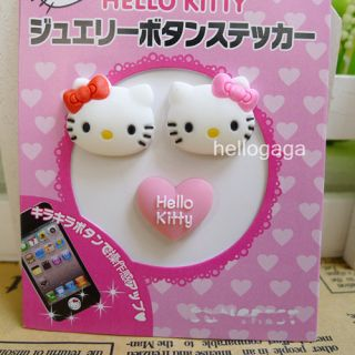 Heart Cat Silicone Home Button Sticker for iPhone 3GS 4G 4S 5G Ipad