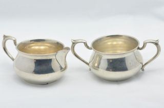 Kirk Son Sterling Silver Creamer Sugar Bowl 925
