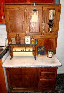 Vintage TIGER OAK Hoosier Old Antique Kitchen Cabinet w/Flour Bin