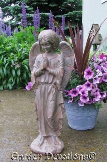 Stone Like 24 Praying Angel Garden Statue Memorial