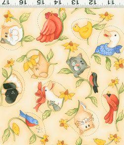 Diane Knott Best Friends Light Yellow Animal Toss