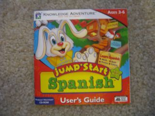Knowledge Adventure Jump Start Spanish Computer Game Mac Windows CD