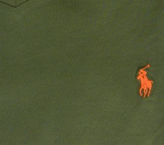 Polo Ralph Lauren V Neck Embroidered Polo Pony Logo T Shirt Mens M L