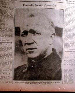 31 1931 newspaper KNUTE ROCKNE DEAD Notre Dame FOOTBALL COACH 1st