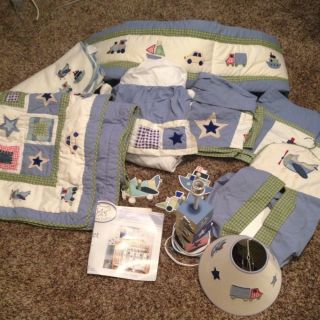 Koala Baby Locomotion Baby Bedding Crib Set 13 Piece Good Condition