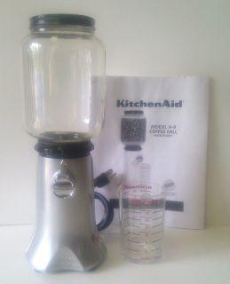 KITCHENAID KITCHEN AID COFFEE MILL GRINDER RETEO A 9 W MEASURING GLASS