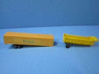 VINTAGE PLASTIC TRUCK TRAILERS KMART LOGO & TOOTSIE TOY GRAVEL HAULER