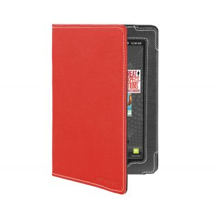Kobo Vox eReader Tablet Red Faux Leather Version Stand Cover Case