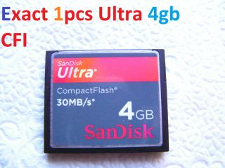 Sandisk ultra 4gb Compact flash CF I memory card FOR NIkon Canon Kodak
