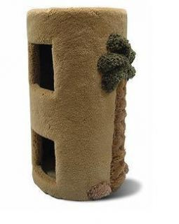 C8 Two Story Cat Kitty Condo with Palm Tree 24 Carpet Covered