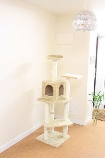 New Beige 60 Cat Tree Condo Furniture Scratch Post Pet House
