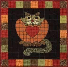 Garden Patch Cats Purrsimmon Quilt Pattern by H Knott