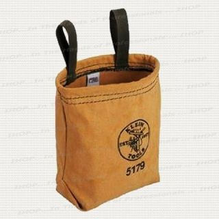 Klein Tools 5179 Water Repellant Canvas Utility Pouch w 2 Belt Loops