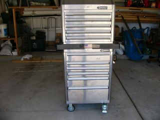 KOBALT 27 STAINLESS STEEL HEAVY DUTY DOUBLE TOOL CHEST   HAND TOOLS