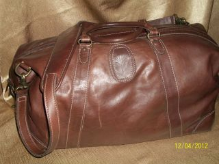 Korchmar, Extra Large Expandable Brown Leather Shoulder Tote, Travel