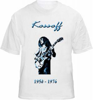 Paul Kossoff T Shirt Live Guitar Free Rock Music Tee