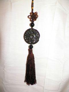 Koi Fish Amulet Feng Shui Figure Key Car Mirror Tassel Charm