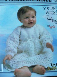 Knit Crochet Baby Patterns Long Short Dress Sweater Hat Shawl Booties