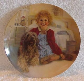 Knowles Fine China Lim Ed Plate Annie and Sandy 1st Annie Series