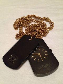 KR3W Watch Identity Necklace Black Gold Krew Pulsar GShock Dog Tag