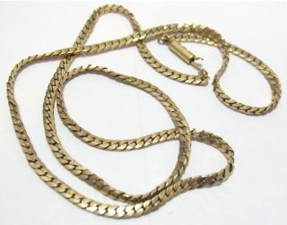 Vintage Krementz Gold Filled Chain Link Necklace 17 inches 10 4 Grams