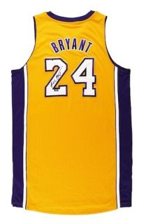 KOBE BRYANT Signed Revolution 30 Pro Cut Authentic Lakers Jersey