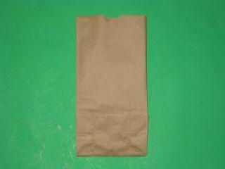 100 4 Kraf Paper Bags 5x3x10 Small
