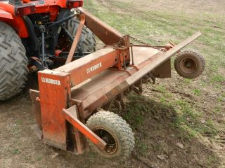 Kubota Tractor 3 Point 54 inch Tiller Attachment