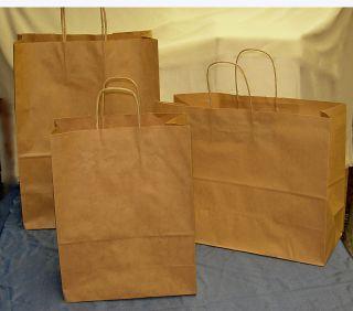 Mixed Lot 30 Kraft Paper Shopping Bags