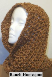 Hand Crocheted Infinity Eternity Scarf Ranch Lion Homespun Yarn
