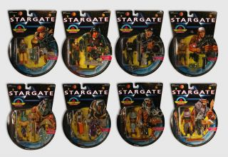 STARGATE Movie Action Figures (Set of 8)   James Spader, Kurt Russell