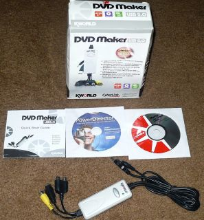 Kworld Dvd Maker Usb 2 0 Includes Cyberlink Power Director User Guide