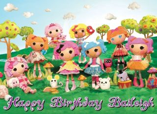 La La Loopsy Dolls Edible Frosting Sheet Image Cake Topper