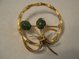 Vtg Signed K L Kenneth Lane 1 20 12K GF Gold Filled Pin Brooch Wreath