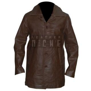 Supernatural Dean Winchester Brown Leather Coat Jacket Vintage