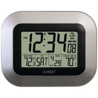 LA CROSSE TECHNOLOGY WS 8115U S ATOMIC DIGITAL WALL CLOCK WITH INDOOR