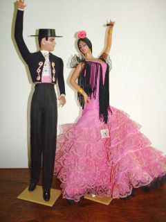 MARIN CHICLANA SPANISH FLAMINCO DANCERS VINTAGE COLLECTIBLE DOLLS