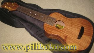 New Koa Pili Koko Ukulele Soprano Solid Acacia Wood