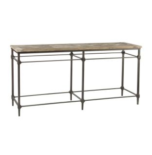 Mattix French Country Reclaimed Wood 71 Console Table